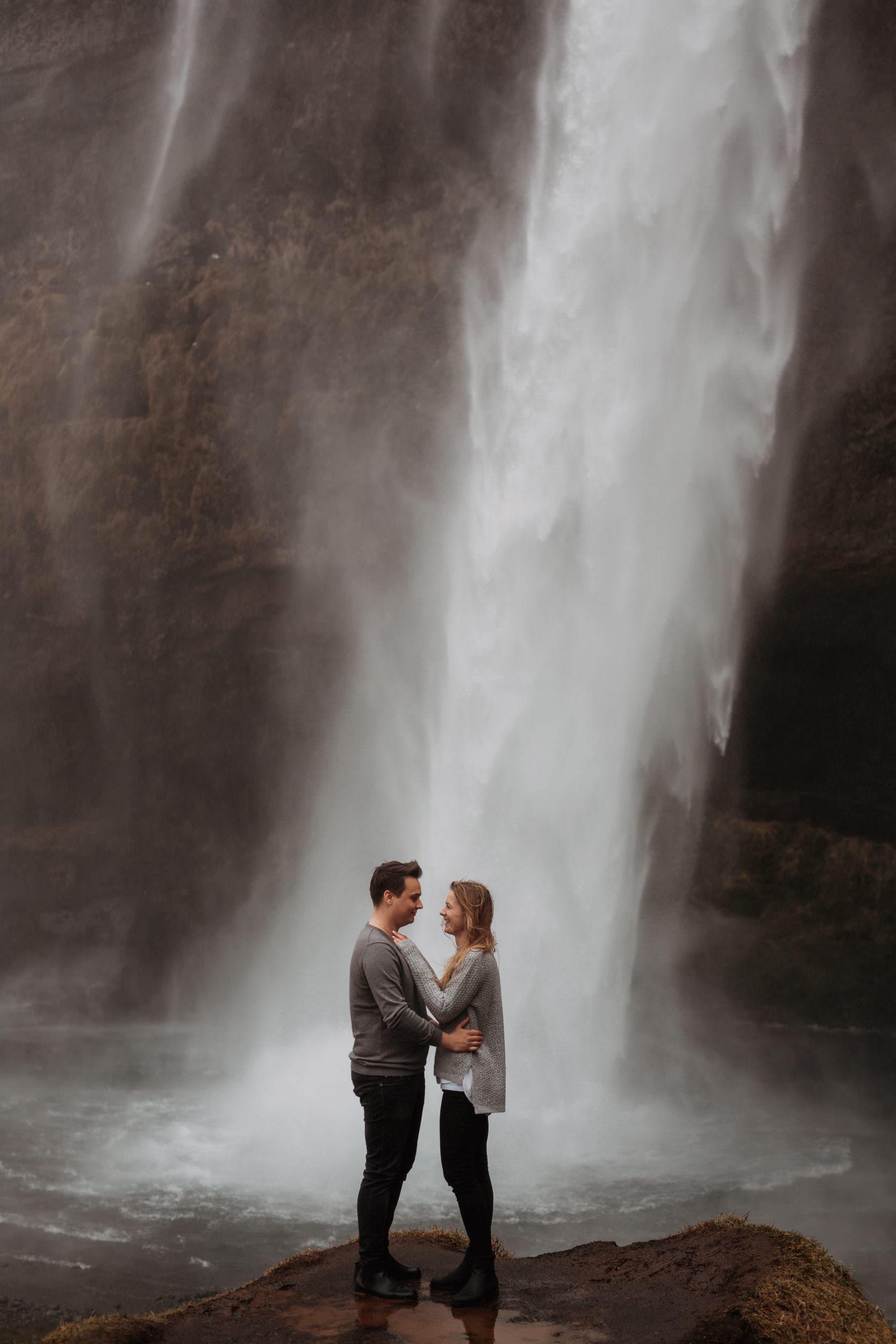 sesja przy wodospadzie